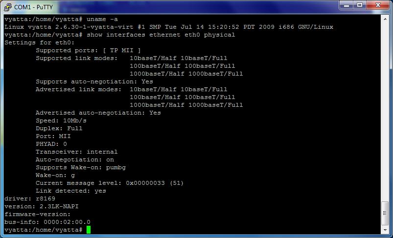 Vyatta LAN r8169 2.3LK-NAPI